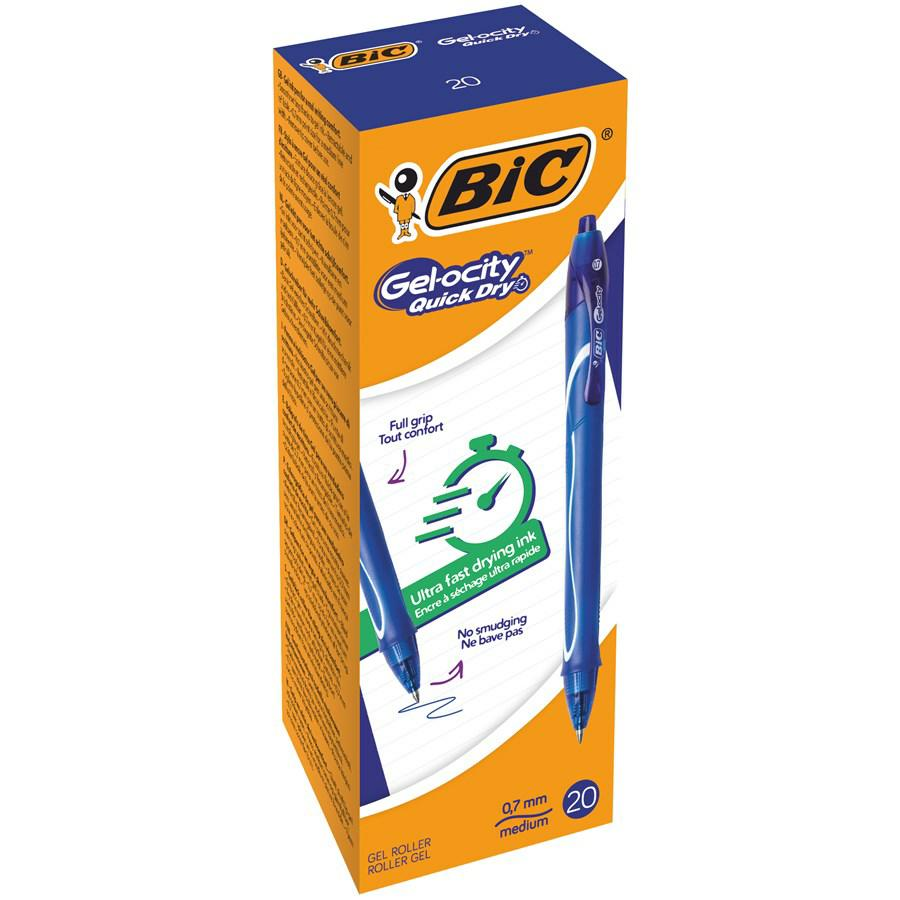 BIC GEL-OCITY QUICK DRY Blu