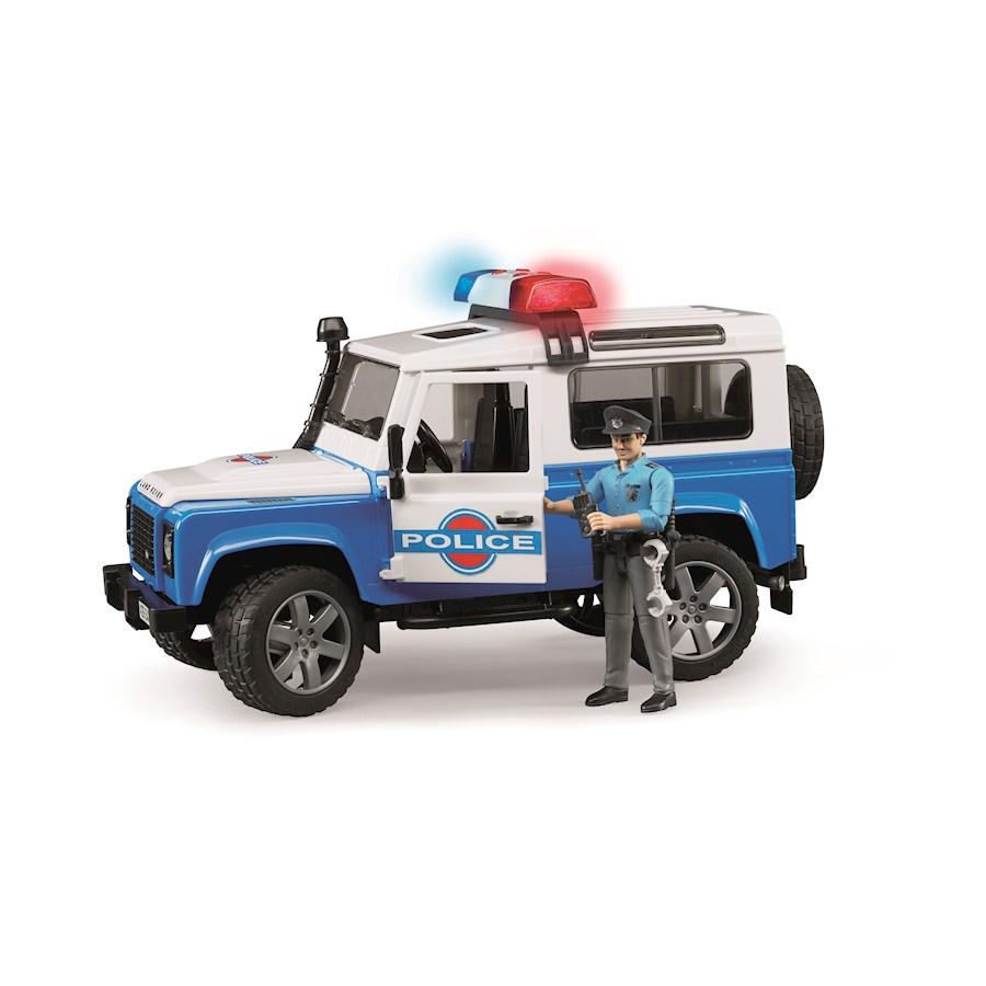 Land Rover Defender Poliziacon luci suoni e poliziotto
