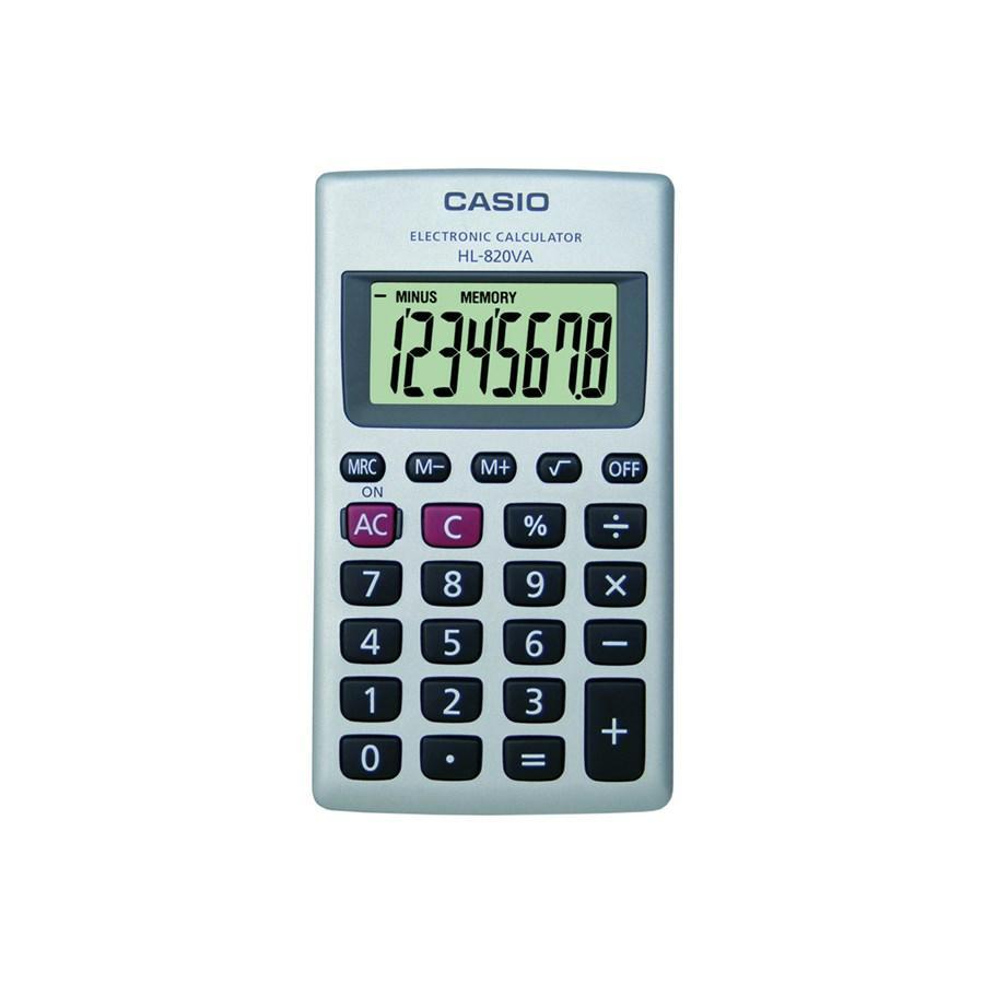CALCOLATRICE TASCABILE CASIO HL 820 8 CIFRE