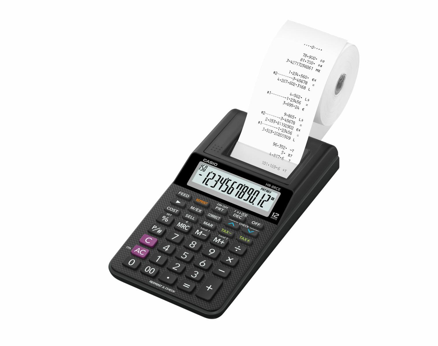 Calcolatrice CASIO HR8 Scrivente