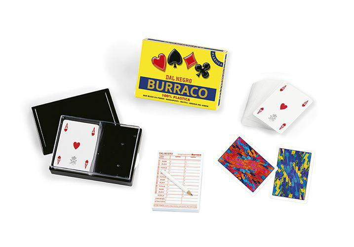 CARTE DA BURRACO PLASTICA DE LUXE DAL NEGRO