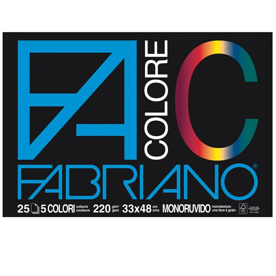 FABRIANO Blocco COLORE cm33x48 f25