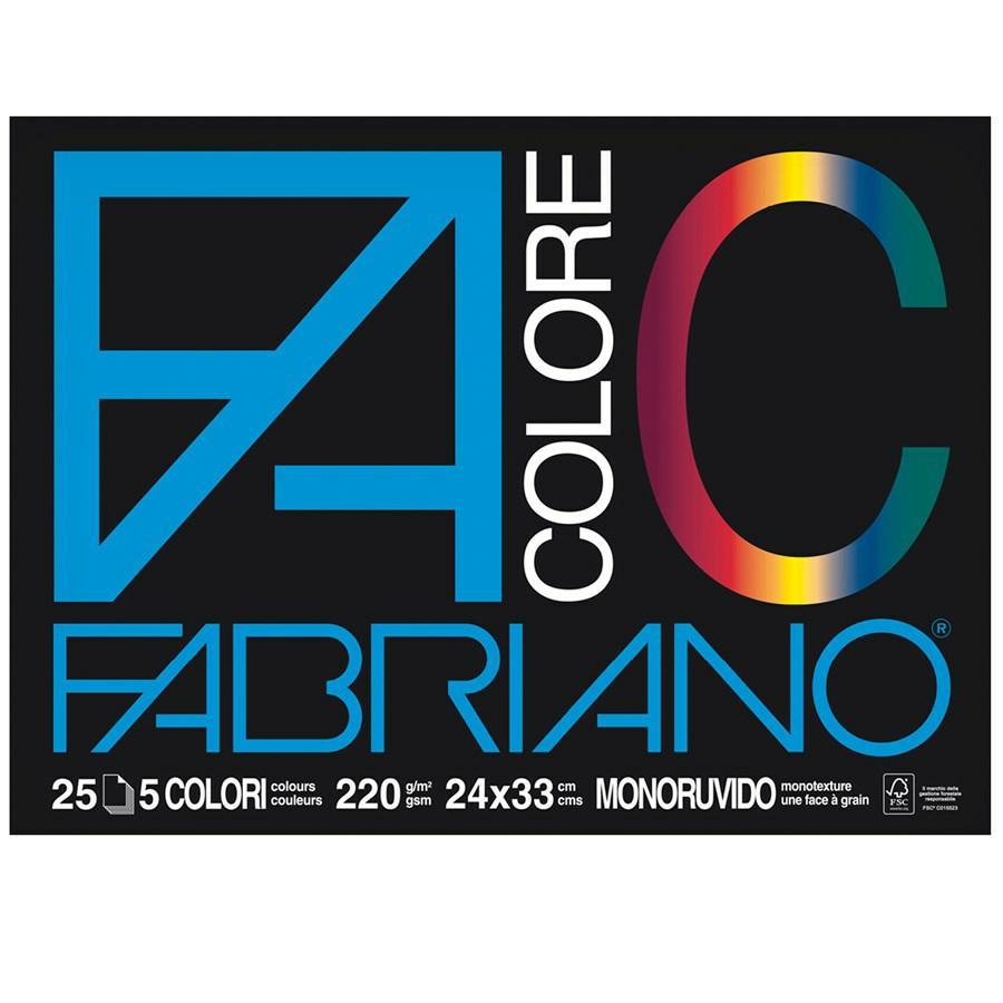 FABRIANO Blocco COLORE cm24x33 f25