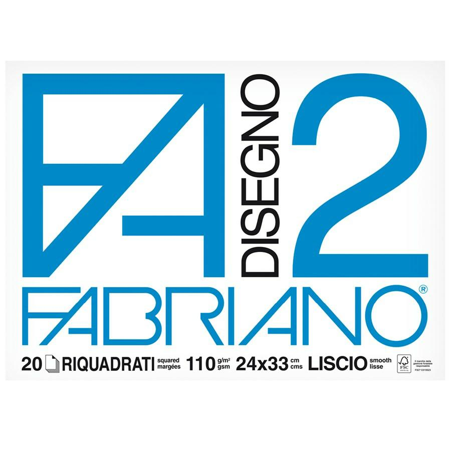 FABRIANO Blocco F2 24x33 Squadrato f20