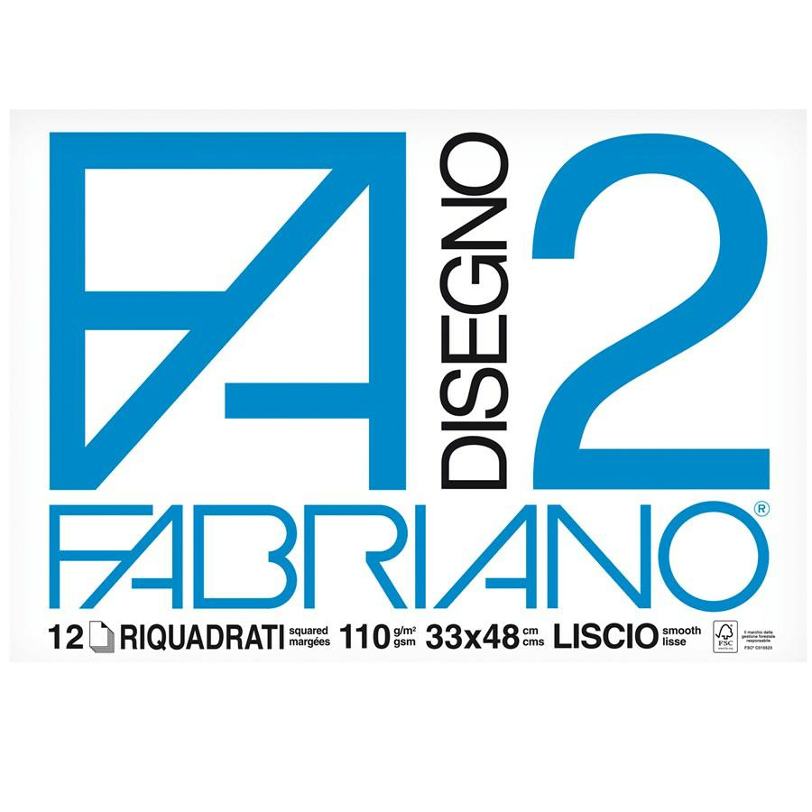 FABRIANO Blocco F2 33x48 Squadrato