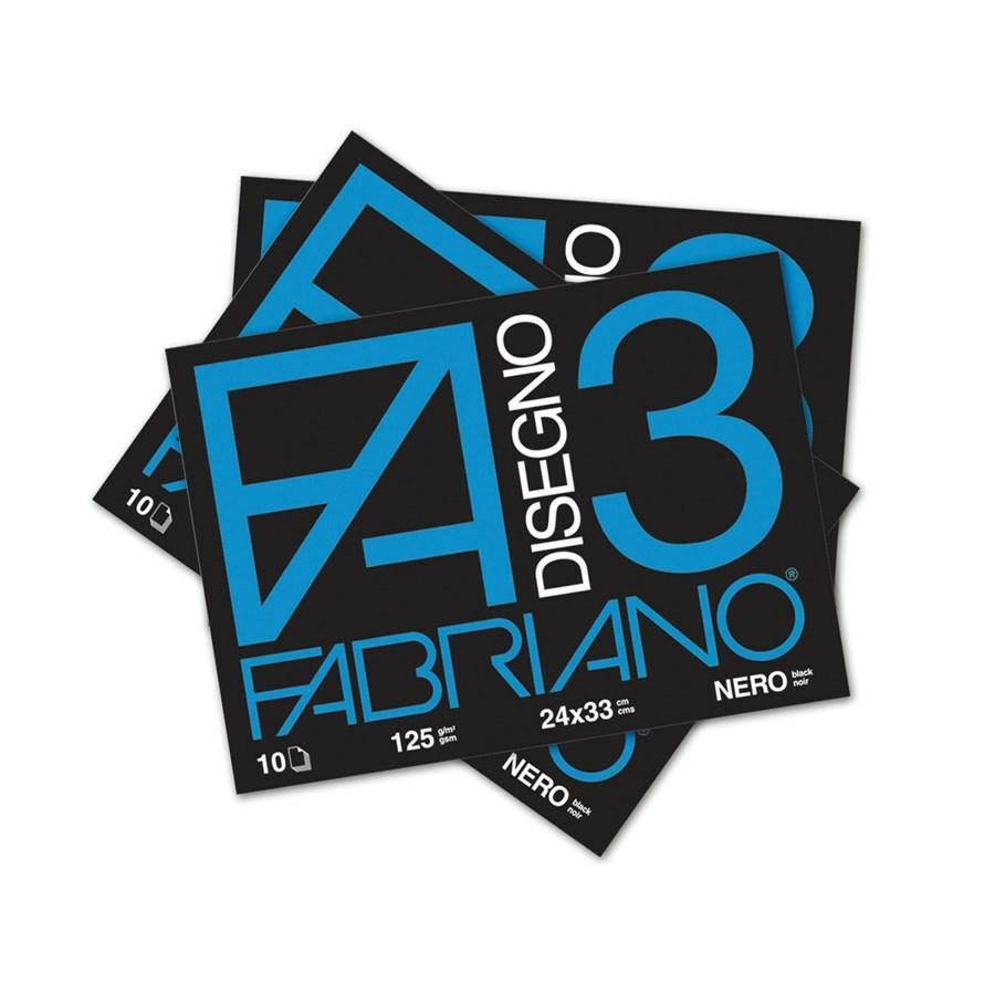 FABRIANO Album F3 Nero cm24x33 f10
