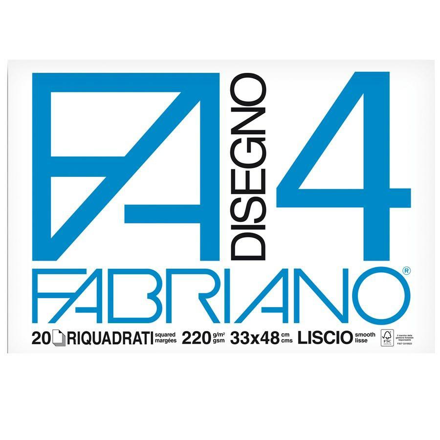 FABRIANO Blocco F4 cm33x48 Squadrato f20
