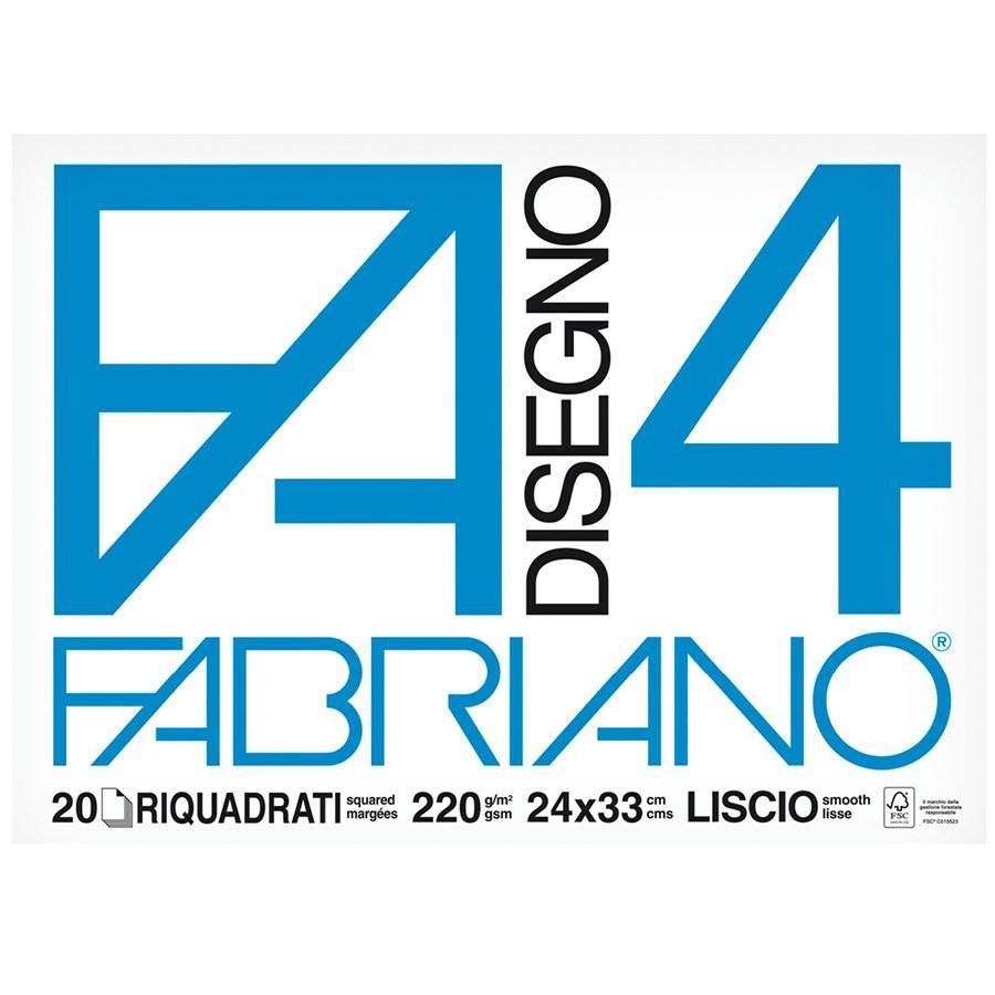 FABRIANO Blocco F4 cm24x33 Squadrato ff20