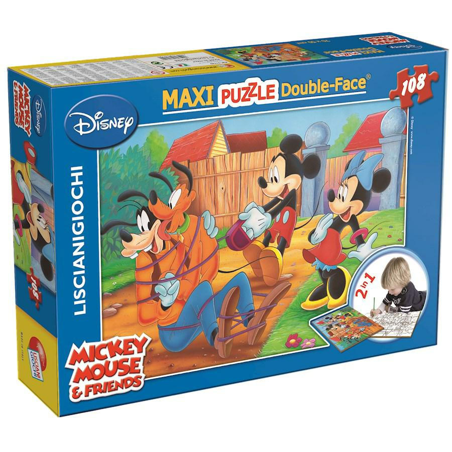 PUZZLE SUPERMAXI 108 MICKEY MY FRIENDS DOUBLE FACE