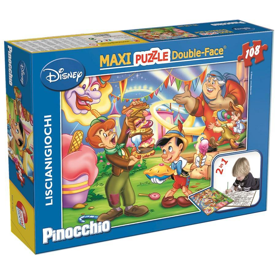 PUZZLE SUPERMAXI 108 PINOCCHIO DOUBLE FACE