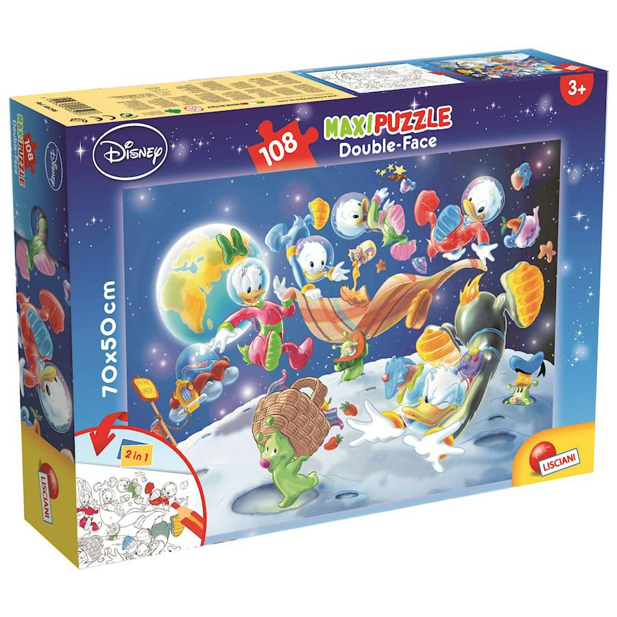 PUZZLE SUPERMAXI 108 MICKEYMOUSE IN SPACE DOUBLE FACE