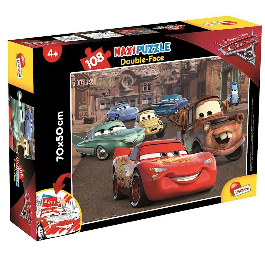 PUZZLE SUPERMAXI 108 CARS 3RACER DOUBLE FACE