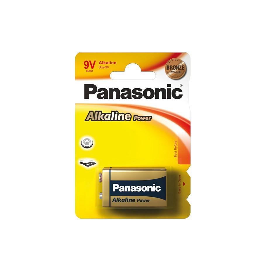 PILA TRANSISTOR 9V PANASONIC 6LR61 ALKALINA