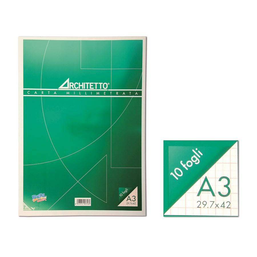 MILLIMETRATA BLOCCO 23X33 ARCHITETTO (RUGM10)