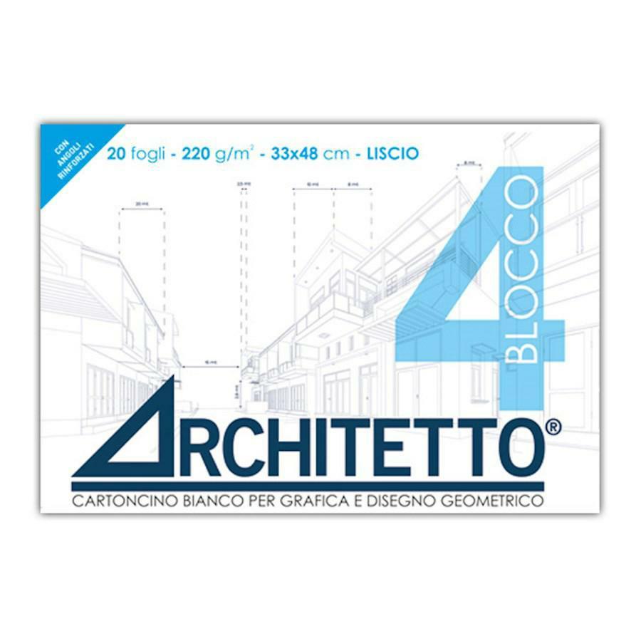 Blocco disegno tipo F4 LISCIO 34x48 ARCHITETTO(ART4G)
