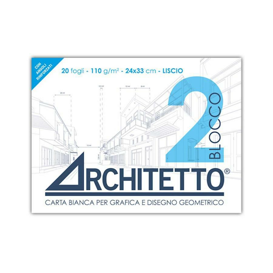 Blocco disegno tipo F2 LISCIO 24x33 ARCHITETTO(ART2P)