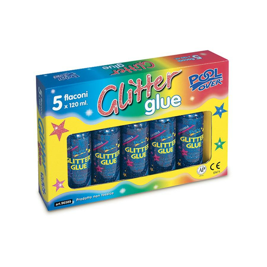 GLITTER GLUE ml120 pz5 BLU POOL OVER