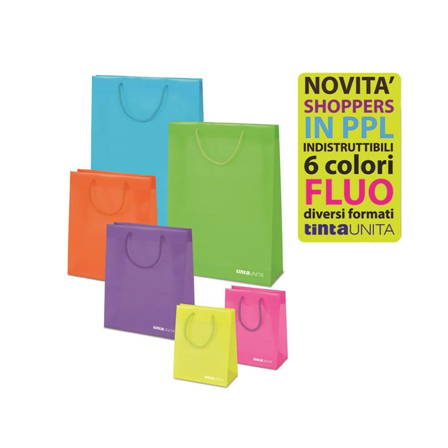 SHOPPING BAG PPL 32,4X26X12,7 TintaUNITA