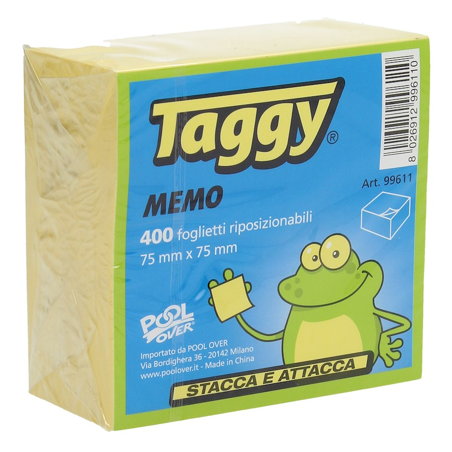 POST-IT CUBO TAGGY 75X75 300FF GIALLO