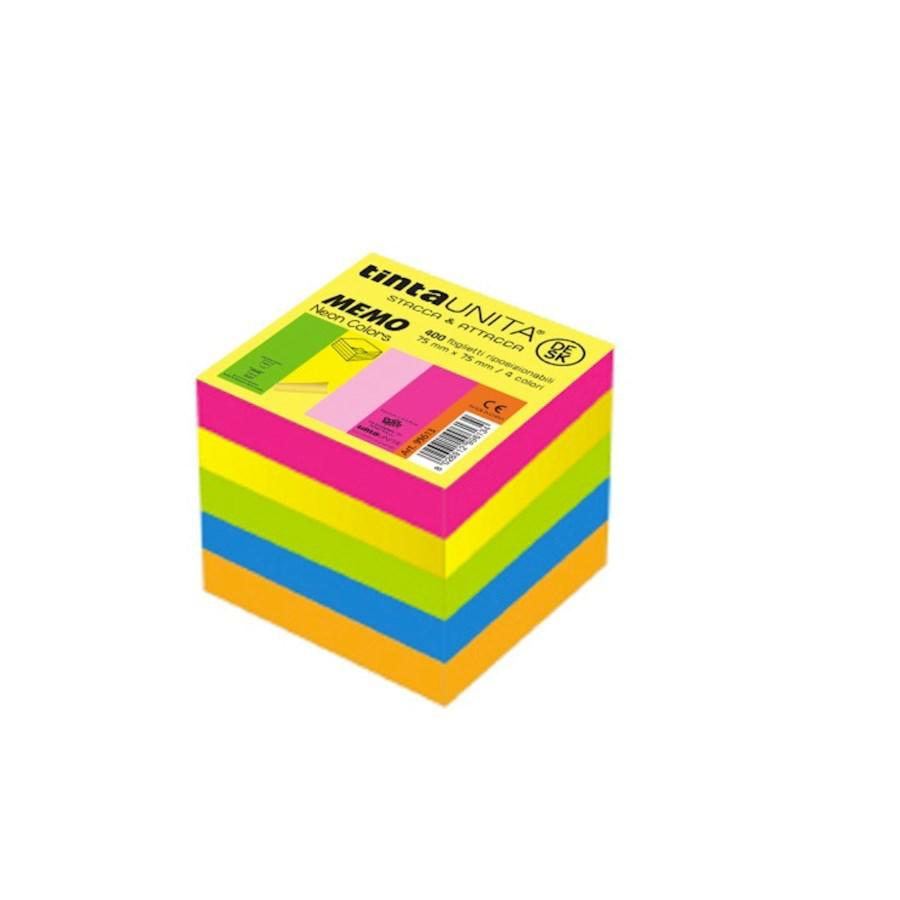 POST-IT CUBO TAGGY 75X75 300FF NEON ASS