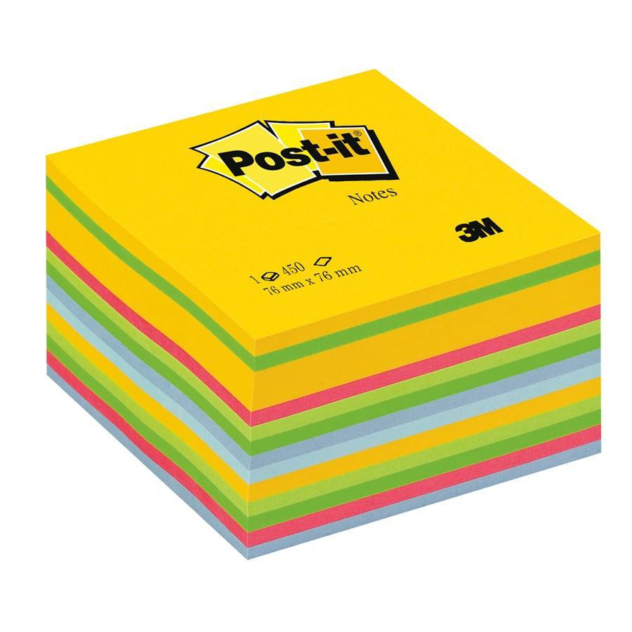 POST-IT CUBO AQUARELL/PASTEL F450 3M