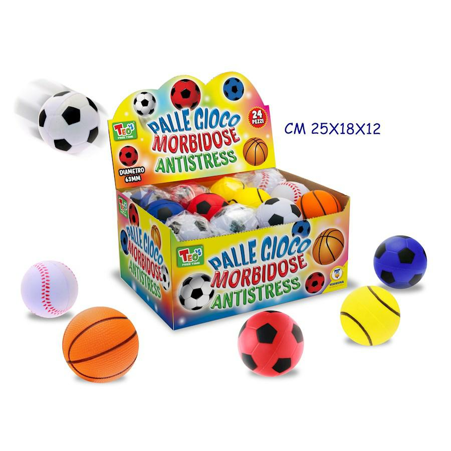 PALLINE ANTISTRESS 6MODELLIASS.24PZ DIAMETRO 63MM