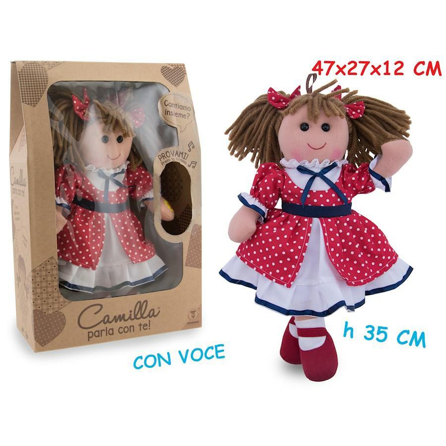 CAMILLA BAMBOLA IN PEZZA GIROTONDO CON VOCE