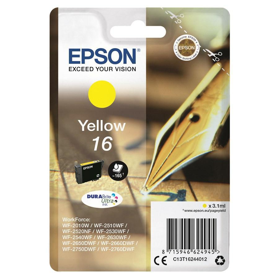 EPSON INK-JET GIALLO N.16L *T162440* WF2510/2530/2010/2540