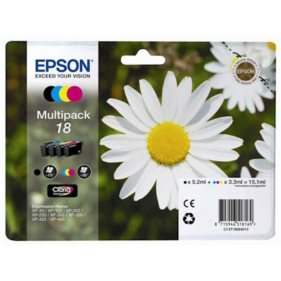 EPSON INK-JET MULTIPACK N.18L *T180640* XP-402/405/305 *BK+C+M+Y*