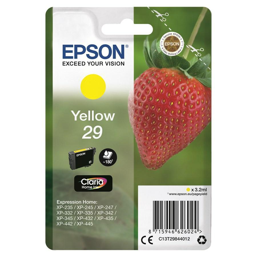 EPSON INK-JET GIALLO T2984 *T29844012* N.29 XP235/332/335/432/435
