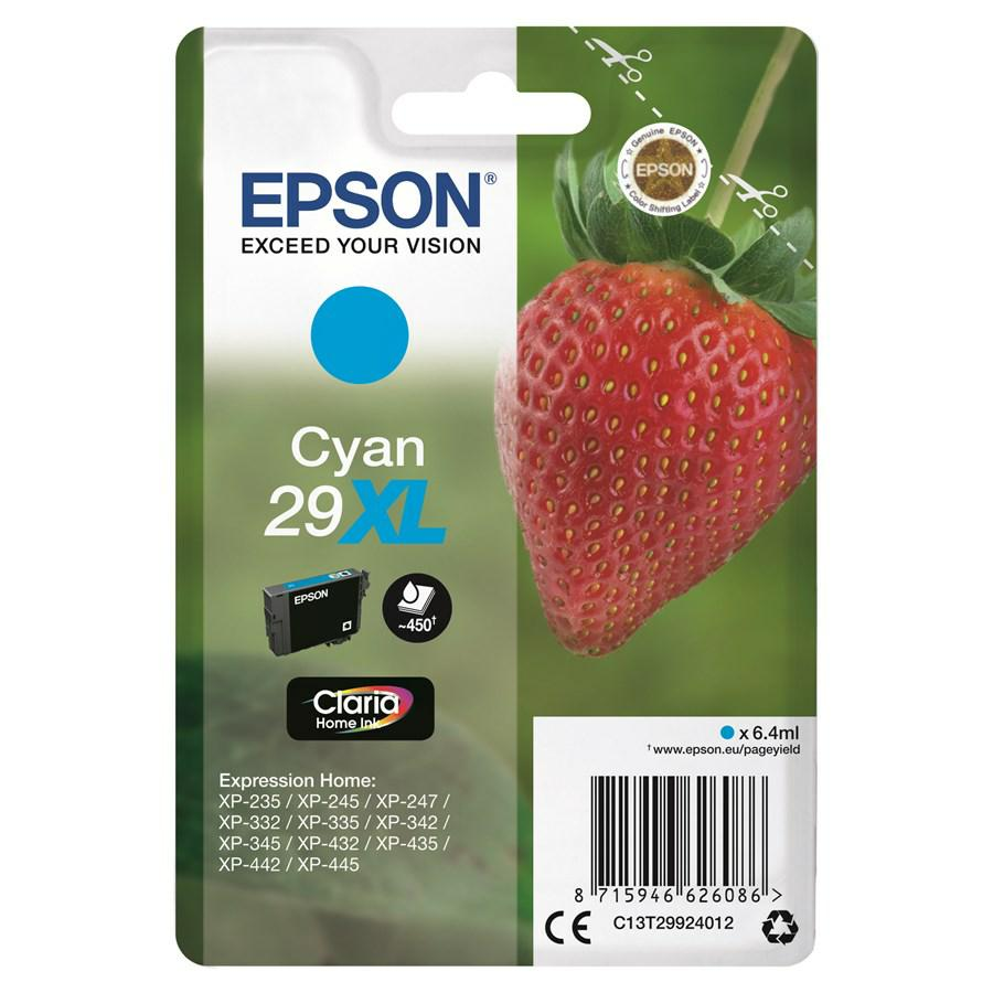 EPSON INK-JET CIANO T2992 *T29924010* N.29XL XP235/332/335/432/435